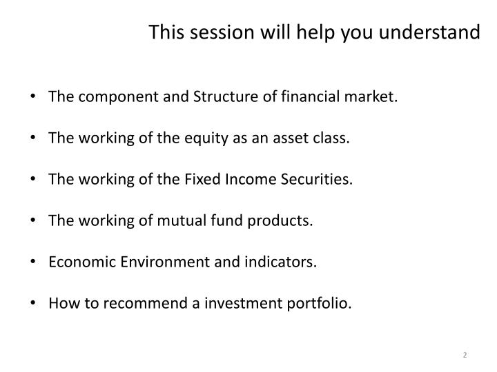 This session will help you understand
