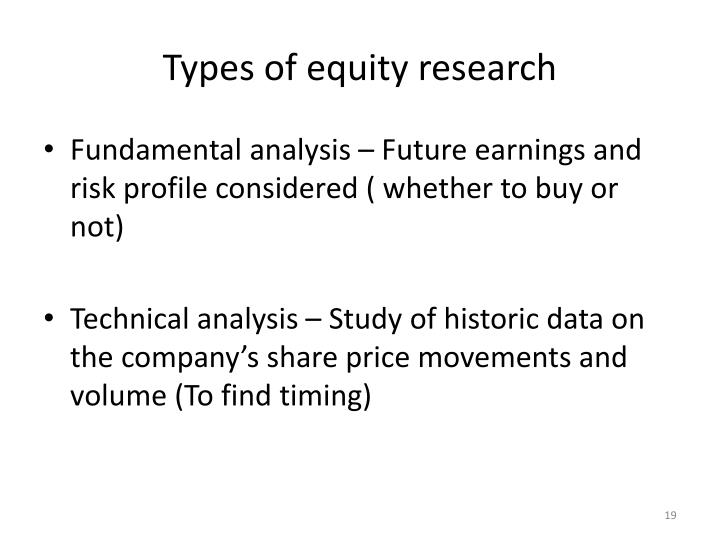 Types of equity research