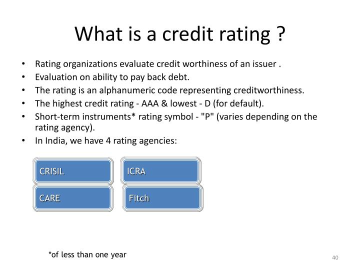 What is a credit rating ?