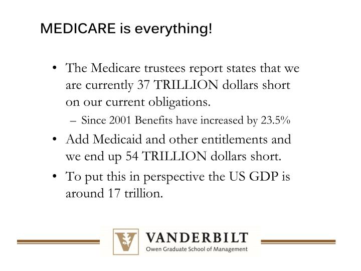 MEDICARE is everything!