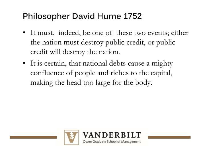 Philosopher David Hume 1752