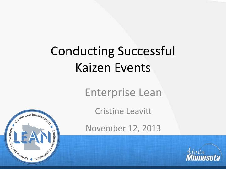 conducting successful kaizen events n.