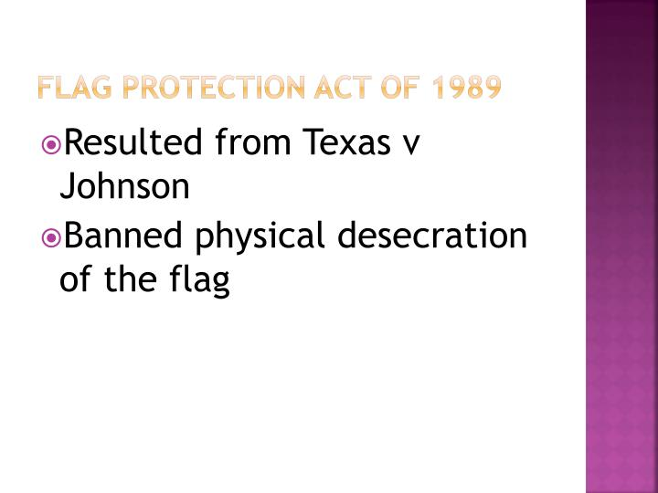 Flag Protection Act of 1989