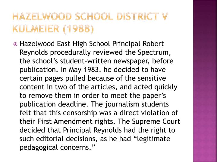Hazelwood School District v