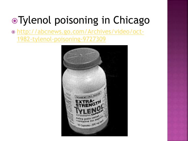 Tylenol poisoning in