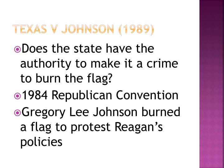 Texas v Johnson (1989)