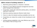 atkins review of existing research 1