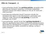 ppg 13 transport 2