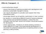 ppg 13 transport 3