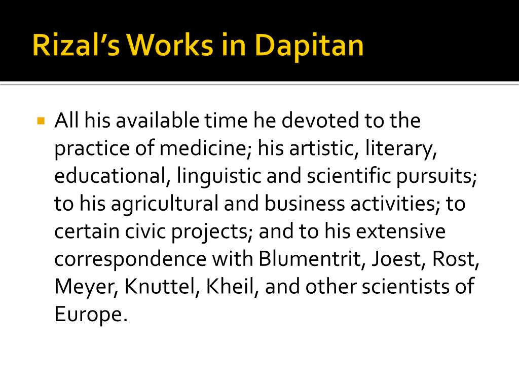 PPT - EXILE IN DAPITAN PowerPoint Presentation - ID:1647925