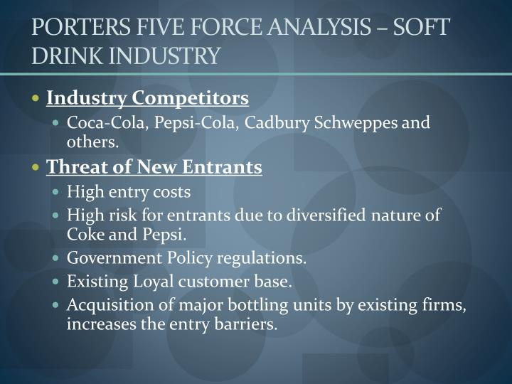 PORTERS FIVE FORCE ANALYSIS – SOFT DRINK INDUSTRY