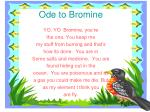 ode to bromine