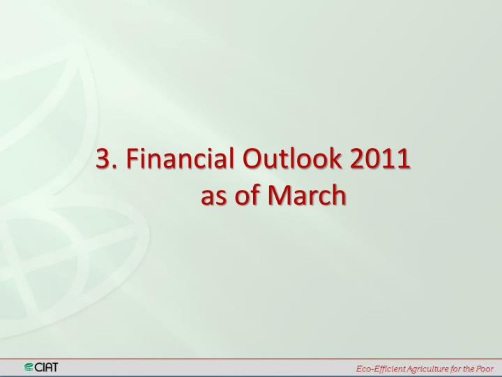3. Financial Outlook 2011