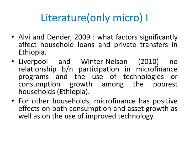 Literature(only micro) I