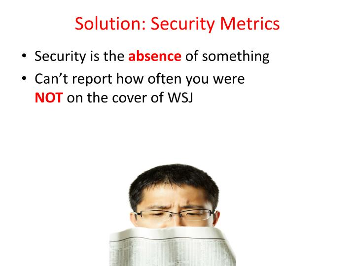 Solution: Security
