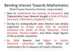 bending interest towards mathematics read discarte geometry elements study privately