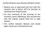 conflict between isaac newton robert hooke