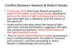 conflict between newton robert hooke