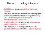 elected to the royal society