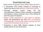 gravitational law hooke initiation on planetary motion robert hooke view point