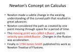 newton s concept on calculus