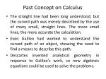past concept on calculus