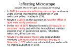 reflecting microscope newton theory of light as corpuscular theory