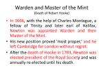 warden and master of the mint death of robert hooke
