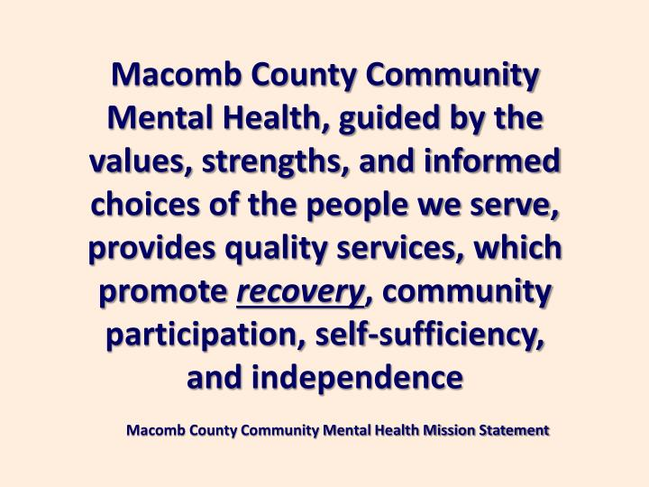 shiawassee county community mental health essay The death count is the latest consequence of an escalating public health crisis: opioid addiction, now made more deadly by an influx of illicitly manufactured fentanyl and similar drugs.