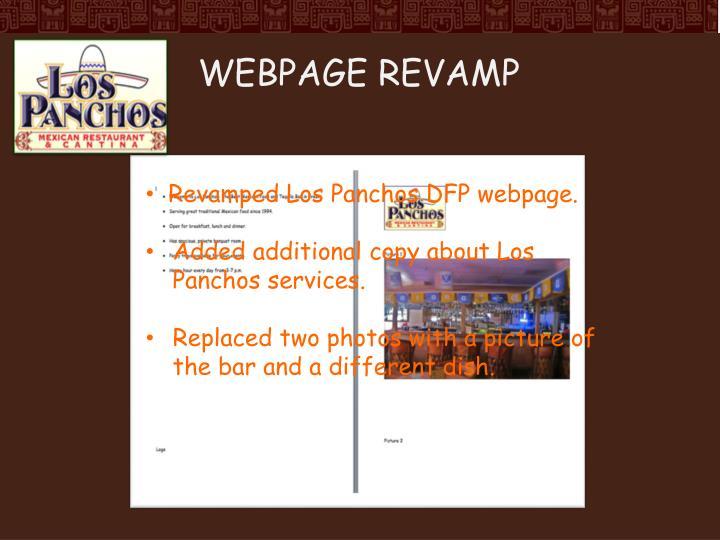 Webpage revamp