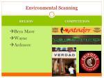 environmental scanning