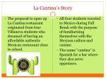 la cantina s story