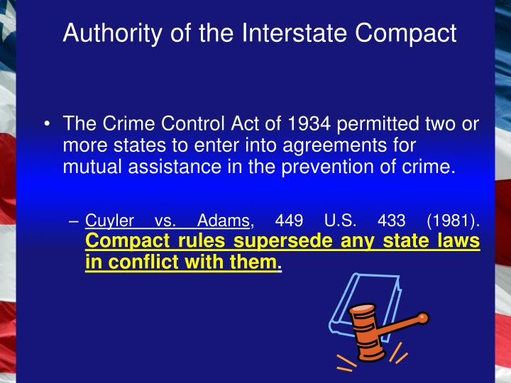 Authority of the Interstate Compact