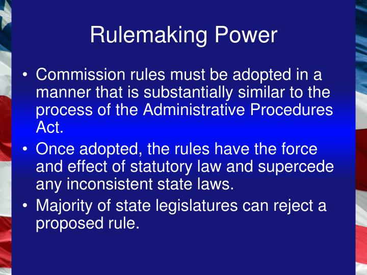 Rulemaking Power