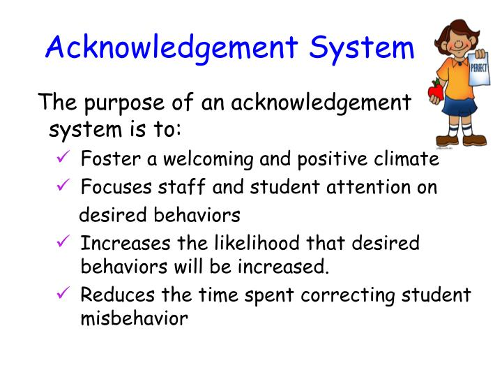Acknowledgement System