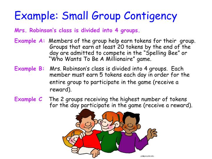 Example: Small Group Contigency