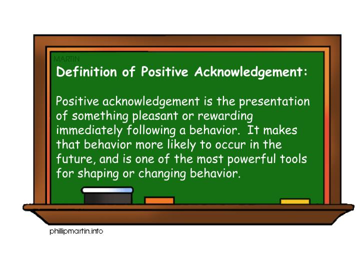 Definition of Positive Acknowledgement: