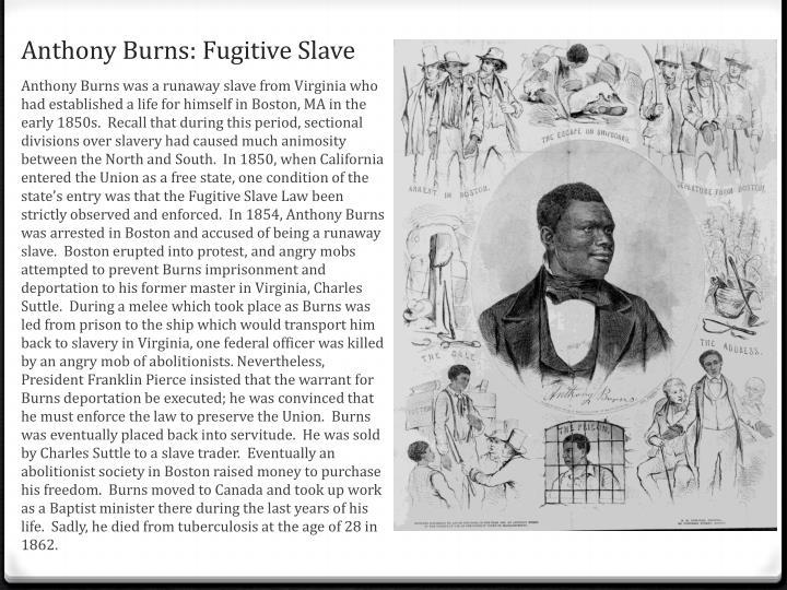 Anthony Burns: Fugitive Slave