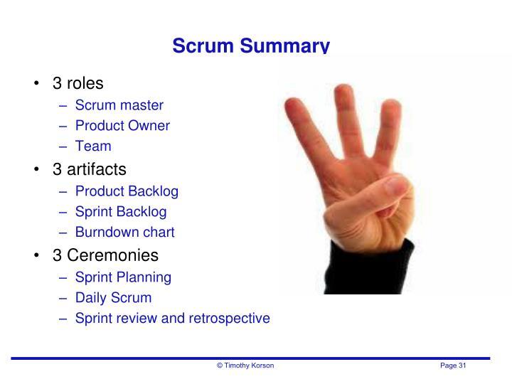 Scrum Summary