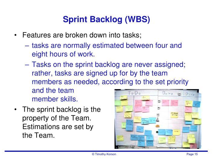 Sprint Backlog (WBS)