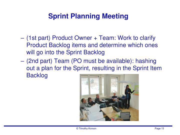 Sprint Planning Meeting