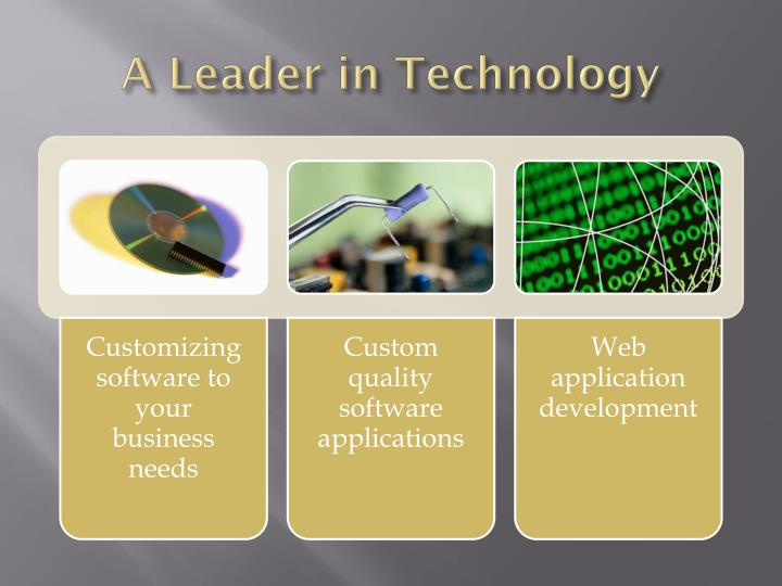 A leader in technology