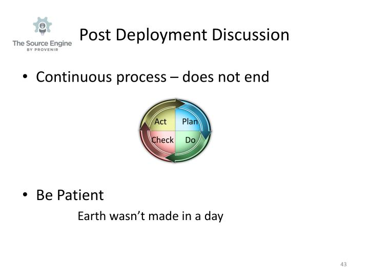 Post Deployment Discussion