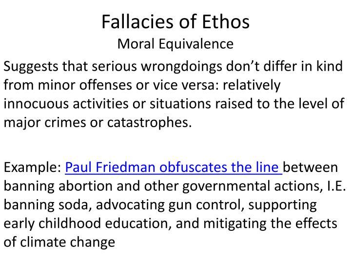 Fallacies of Ethos