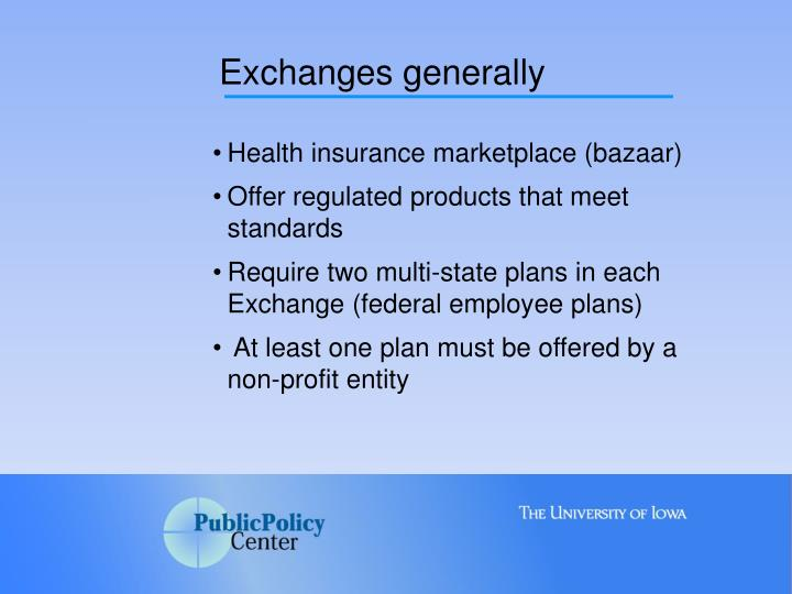 Exchanges generally