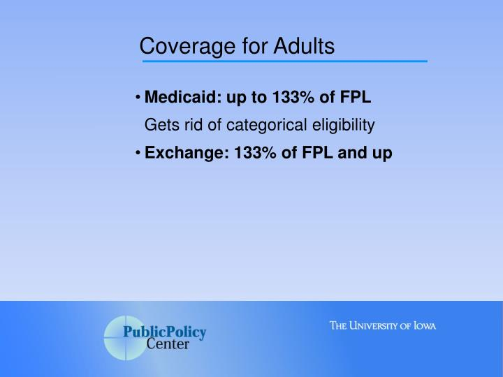 Coverage for Adults