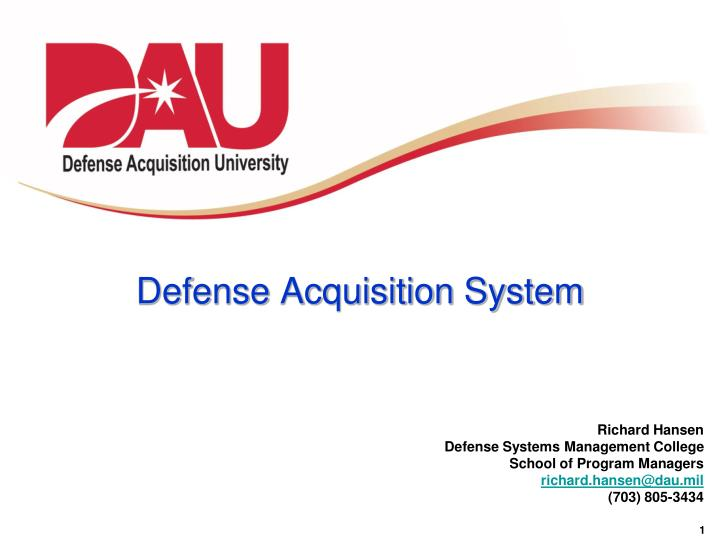 defense acquisition system n.