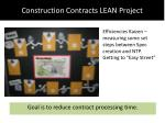 construction contracts lean project