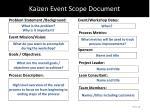 kaizen event scope document