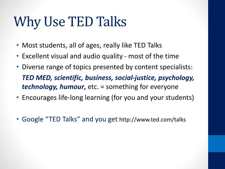 Why Use TED Talks